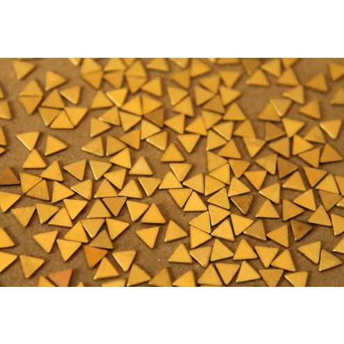 30 pc. Tiny Raw Brass Triangles: 4mm by 4mm - made in USA -  RB-056