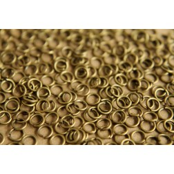200 pc. 4mm Antique Bronze Open Jumprings, 22 gauge | FI-015