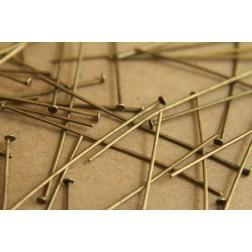 100 pc. Antique Bronze Headpins, 21 gauge | FI-076