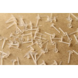 200 pc. Plastic Earring Posts, 5mm pad | FI-156