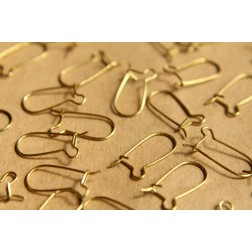 50 pc. Raw Brass Kidney Earwires 16mm | FI-161