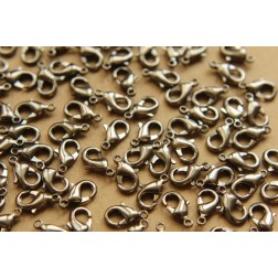 30 pc. Gunmetal Lobster Clasps, 7mm x 12mm | FI-203