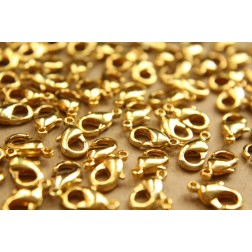 30 pc. Gold Lobster Clasps, 7mm x 12mm - FI-207