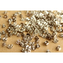 100pc. Silver Plated Earnuts | FI-209