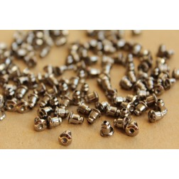 100 pc. Gunmetal Plated Bullet Earnuts | FI-226