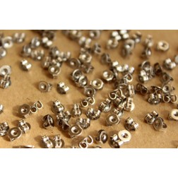 100 pc. Stainless Steel Earnuts - FI-237