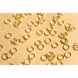 200 pc. 6mm Gold Open Jumprings, 21 gauge | FI-256