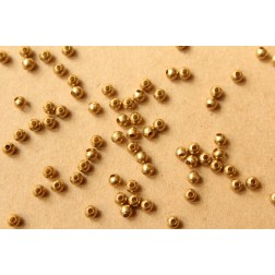 150 pc. 4mm Raw Brass Spacer Beads | FI-293
