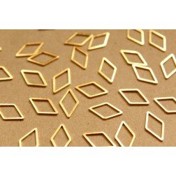 50 pc. Gold Plated Diamond Rhombus Links: 9.5mm by 16mm | FI-307