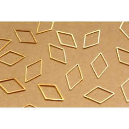 50 pc. Gold Plated Diamond Rhombus Links: 14mm by 24mm | FI-308