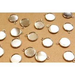 20 pc. Silver Round Cabochon Setting Pendant 12mm | FI-311
