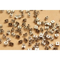 100 pc. Stainless Steel Earnuts - FI-321