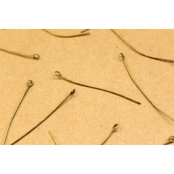 100 pc. Antique Bronze Eyepins, 21 gauge | FI-326
