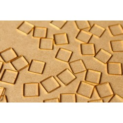 50 pc. Gold Plated Square Links: 10mm by 10mm | FI-341