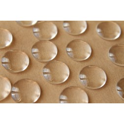 25 pc. Round Glass Domed Cabochons - 18mm | MIS-046