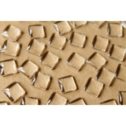 50 pc. Square Glass Cabochons - 10mm by 10mm | MIS-053