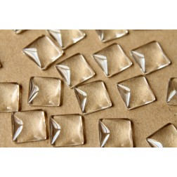 25 pc. Square Glass Cabochons - 15mm by 15mm | MIS-054