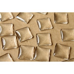25 pc. Square Glass Cabochons - 20mm by 20mm | MIS-055