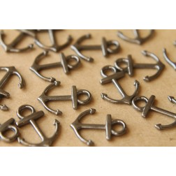 10 pc. Tibetan Style Anchor Charms Pendants, Multiple Colors Available | MIS-073