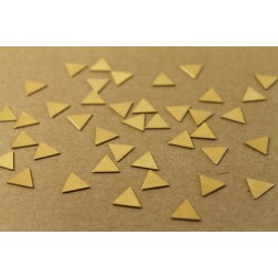 20 pc. Small Raw Brass Triangles: 9mm by 9mm - made in USA | RB-001