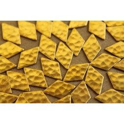 18 pc. Raw Brass Hammered Diamonds: 8mm by 12mm - made in USA | RB-011