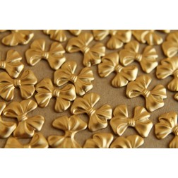 10 pc. Small Raw Brass Bows: 10.5mm by 18mm - made in USA | RB-031