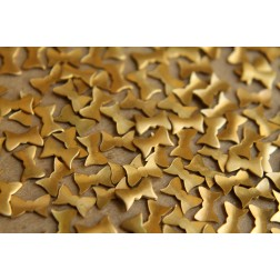 30 pc. Tiny Raw Brass Bowties: 7.5mm by 5mm - made in USA | RB-169