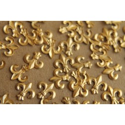 20 pc. Fleur de Lis Stampings: 7.5mm by 7mm - made in USA | RB-180