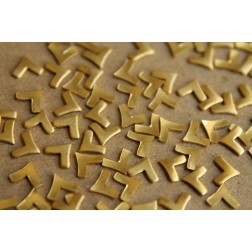 24 pc. Tiny Raw Brass Chevron Stampings : 6mm by 4mm  - made in USA | RB-188