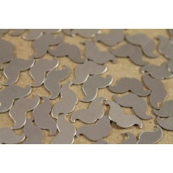 20 pc. Small Raw Brass Mustaches - Nickel Silver: 13mm by 6mm - made in USA | RB-204