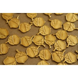 8 pc. Raw Brass Flat Acorns: 10mm by 15mm - made in USA | RB-250