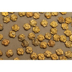 10 pc. Small Raw Brass Dog Heads: 8mm by 7mm - made in USA | RB-325
