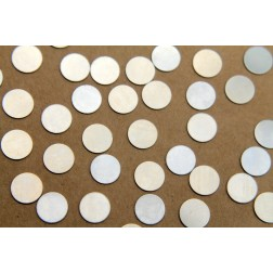 6 pc. Small Nickel Silver Circles: 10 mm diameter - made in USA | RB-330