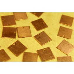 10 pc. Medium Raw Copper Square Charms: 12.5mm by 12.5mm - made in USA | RB-376