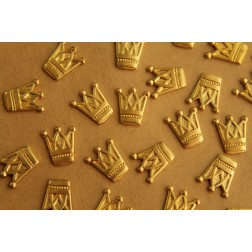 4 pc. Raw Brass Tall Crowns: 12mm by 14mm - made in USA | RB-407