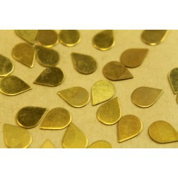 20 pc. Small Raw Brass Teardrops: 8mm by 11mm - made in USA | RB-442