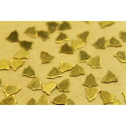 30 pc. Tiny Raw Brass Bells: 6mm by 7mm - made in USA | RB-468