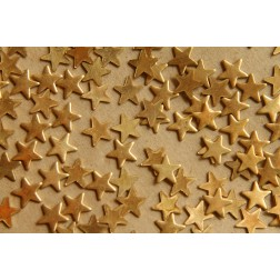 30 pc. Small Raw Brass Stars: 7.5mm by 7.5mm - made in USA | RB-512