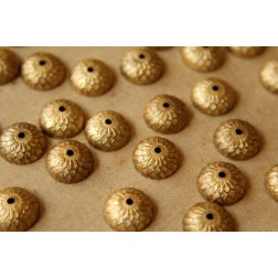 6 pc. Raw Brass Acorn Bead Caps : 12mm by 5mm - made in USA | RB-539