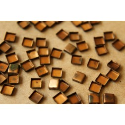 36 pc. Tiny Raw Brass Square Bezel Cups: 5mm by 5mm - made in USA | RB-555