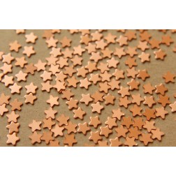24 pc. Tiny Raw Copper Stars: 5mm by 5mm - made in USA | RB-567