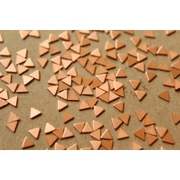 30 pc. Tiny Raw Copper Triangles: 4mm by 4mm - made in USA -  RB-588