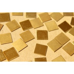 20 pc. Tiny Raw Brass Squares: 12mm by 12mm - made in USA | RB-606