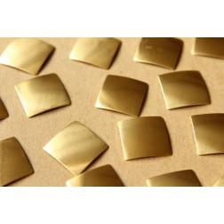 8 pc. Raw Brass Domed Squares: 19.5mm by 19.5mm - made in USA | RB-607