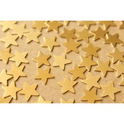 30 pc. Small Raw Brass Stars: 10mm by 10mm - made in USA | RB-619
