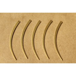 10 pc. Raw Brass Narrow Curved Dangles  - Right: 58mm by 3mm - made in USA | RB-632