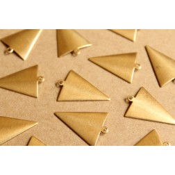 10 pc. Raw Brass Triangle Arrow Charms: 26mm by 18mm - made in USA | RB-899