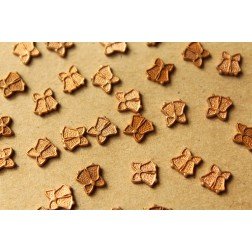 14 pc. Tiny Raw Brass Christmas Bells Stampings: 7mm by 7mm - made in USA | RB-939