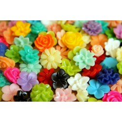 100 pc. Multi-Colored Small Cabochon Grab Bag | RES-334