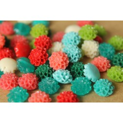 10 pc. Small Glossy Chrysanthemum Beads 10mm | RES-416
